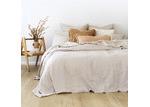 Bambury Cream Pebble Linen Quilt Cover Set