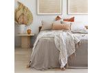 Bambury Beige Pebble Linen Sheet Set