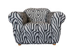 Sure Fit Statement Prints Zebra 1 Seater Chair Cover
