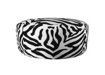 The Decor Store Monique Zebra Print Velvet Ottoman