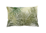 The Decor Store Green Leaves Rectangular Cotton Cushion
