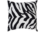 The Decor Store Monique Zebra Print Velvet Cushion