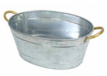 J. Elliot Galvanized Silver Tub
