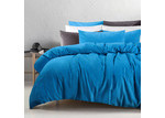 Accessorize Peacock Blue Cotton Velvet Quilt Cover Set