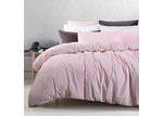 Accessorize Blush Cotton Velvet Quilt Cover Set