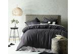 Accessorize Dark Grey Linen Blend Quilt Cover Set