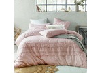 Accessorize Blush Boho Tassels Linen Blend Quilt Cover Set