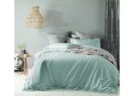 Accessorize Duckegg Maison Linen Cotton Quilt Cover Set