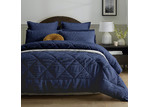 Accessorize 3 Piece Navy Waffle Comforter Set