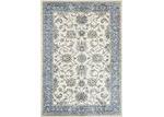 Lifestyle Floors Cream & Blue Atlas Border Rug