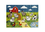 Lifestyle Floors Happy Kids Farm Scene Rug