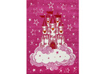 Lifestyle Floors Pink Happy Kids Castle Rug