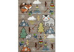 Lifestyle Floors Beige Happy Kids Adventure Rug