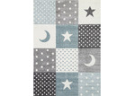 Lifestyle Floors Blue & Grey Happy Kids Rug