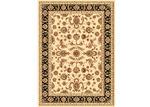 Lifestyle Floors Cream & Black Julianne Oriental Rug