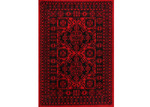 Lifestyle Floors Red & Black Tribute Afghan Inspired Rug