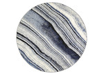 Lifestyle Floors Grey & Blue Chello IV Round Rug
