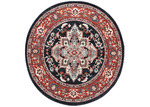 Lifestyle Floors Red & Navy Simone III Round Rug