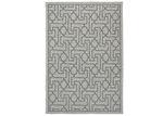 Lifestyle Floors Black & Grey Polo Jolene Patio Rug