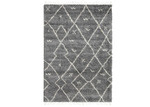 Lifestyle Floors Dark Grey Tribal Kasper Rug