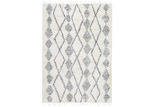 Lifestyle Floors Cream & Silver Tribal Kasper Rug