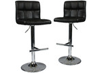 Southern Stylers Harley Faux Leather Adjustable Barstools (Set of 2)
