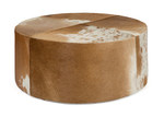 Lifestyle Traders Round Cow Hide Ottoman