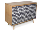 Casa Uno 2 Door Monochrome Wood Buffet Cabinet