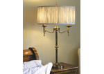 Viore Design Stanford 2 Light Brass Table Lamp - Shimmer Grey