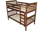 By Designs Walnut Donatello Timber Trundle Bunk Bed
