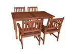 Woodlands Outdoor Furniture 4 Seater Malay Outdoor Dining Table & Chair Set