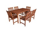 Woodlands Outdoor Furniture 6 Seater Malay Outdoor Dining Table & Chair Set