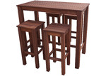 Woodlands Outdoor Furniture 4 Seater Patio Outdoor Bar Table Set