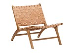 Continental Designs Cassie Woven Leather & Teak Lounge Chair