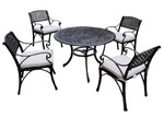 Cast Iron Outdoor 5 Piece Prato Cast Aluminium Dining Table & Chair Set