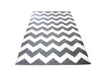 Ground Work Rugs Grey Chevron Hand-Knotted Cotton Rug