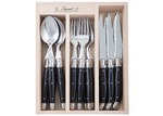 Andre Verdier 18 Piece Debutant Mirror Black Cutlery Set