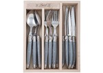 Andre Verdier 18 Piece Debutant Mirror Grey Cutlery Set