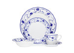 Noritake Rhapsody Blue 20 Piece Dinner Set