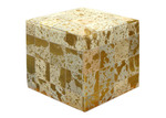 Boyle Metallic Splatter Cow Hide Ottoman
