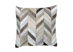 Boyle Grey Small Herringbone Cow Hide Cushion