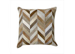 Boyle Brown Herringbone Cow Hide Cushion