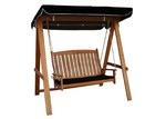 Breeze Outdoor Rivers 2 Seat Hardwood Swing with Canopy and Cushion