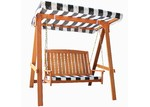 Breeze Outdoor 2 Seater Monochrome Rivers Outdoor Canopy Swing