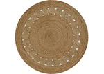 Atlas Flooring Round Rose Jute Rug