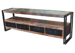 Dodicci Ansa 4 Drawer Reclaimed Wood TV Stand