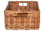 Cane Design Single Small Rattan Utility Basket with Grips