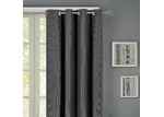 Home Living Small Grid Single Panel Eyelet Curtain