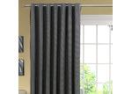 Home Living Large Grid Single Panel Eyelet Curtain