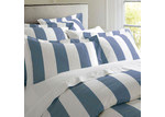 RANS Oxford Stripe Quilt Cover Cobalt Blue